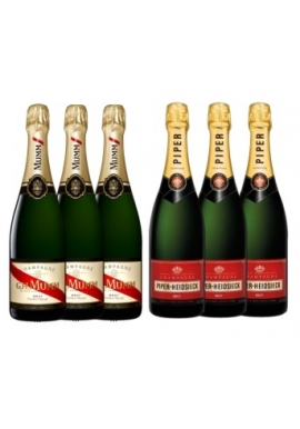 6 Pack Selection Premium French Champagne